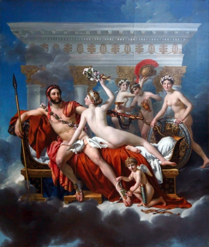 Mars Being Disarmed by Venus and the Three Graces 1824