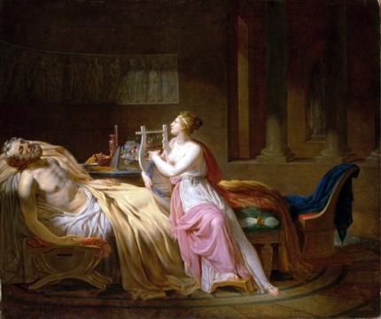 Calliope Mourning Homer 1812