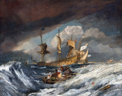 Boats Carrying Out Anchors to the Dutch Men of War, 1804