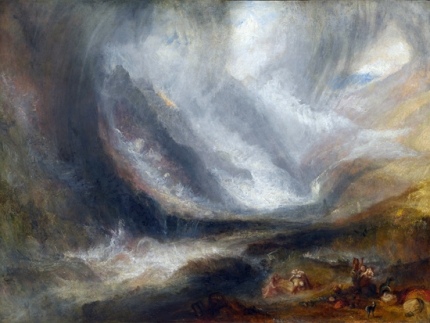 Valley of Aosta- Snowstorm, Avalanche, and Thunderstorm 1836