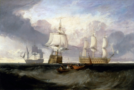 The Victory Returning from Trafalgar, in Three Positions 1806