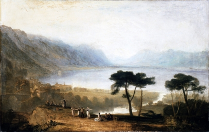 Lake of Geneva from Montreux 1810