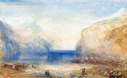Fluelen- Morning (looking towards the lake) 1845