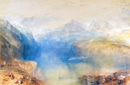 The Lake of Lucerne from Brunnen