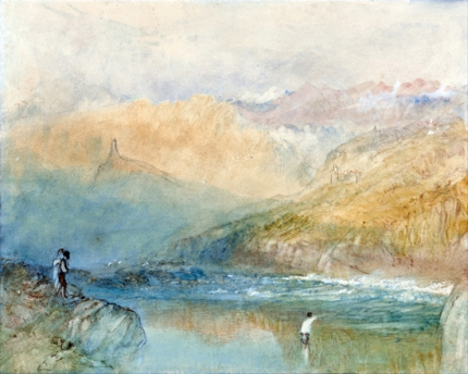 On the Mosell, Near Traben Trarbach 1841