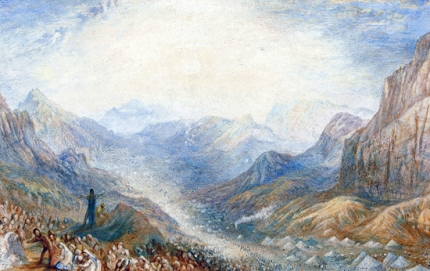 Mount Sinai, the Valley in which the Children of Israel were encamped
