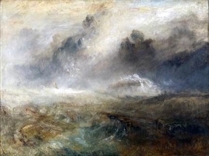 Rough Sea with Wreckage