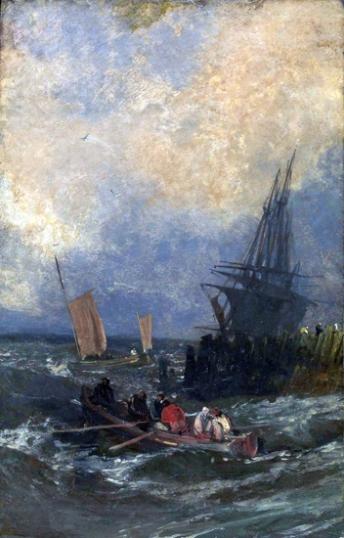Shipping by a Breakwater 1798