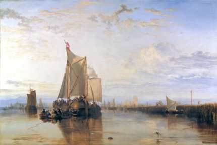 Dort or Dordrecht- The Dort Packet-Boat from Rotterdam Becalmed 1818