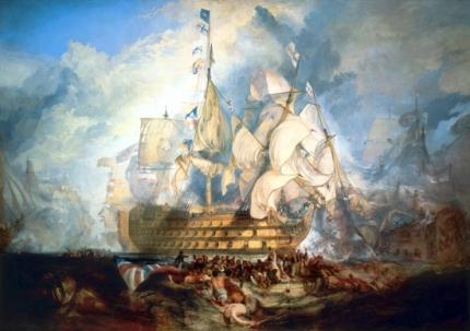 The Battle of Trafalgar 1822