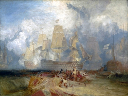 The Battle of Trafalgar 1823