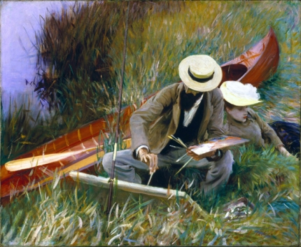 Paul Helleu Sketching With His Wife 1889