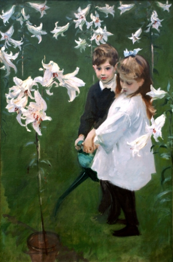 Garden Study of the Vickers Children, 1884