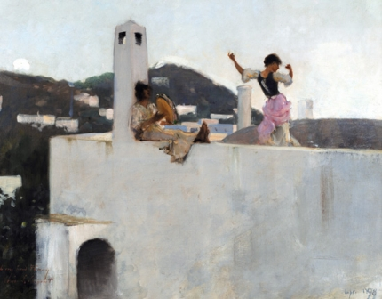 Capri Girl on a Rooftop 1878