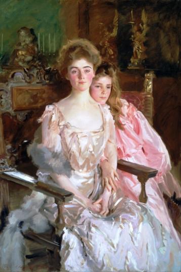 Mrs. Fiske Warren (Gretchen Osgood) and Her Daughter Rachel 1903