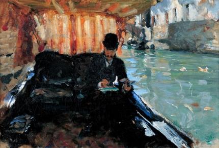 Ramón Subercaseaux In a Gondola 1880