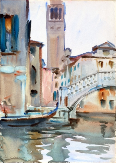A Bridge and Campanile, Venice 1902