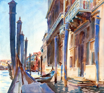Gondola Moorings on the Grand Canal 1904