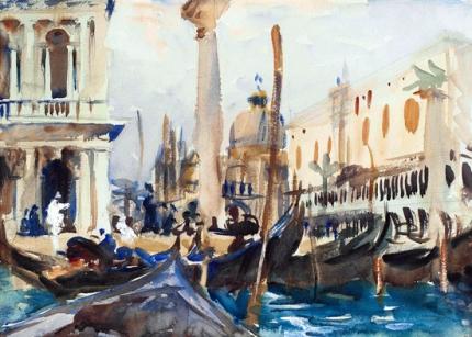 The Piazzetta With Gondolas 1902