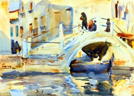 Venice-Bridge With Figures 1902
