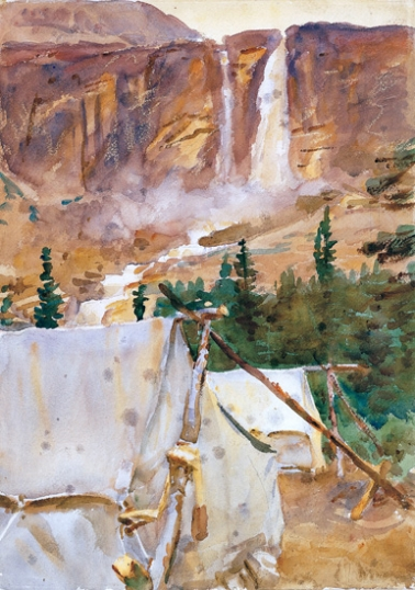 Camp and Waterfall 1916