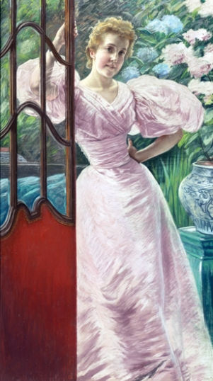 Young Woman in a Conservatory