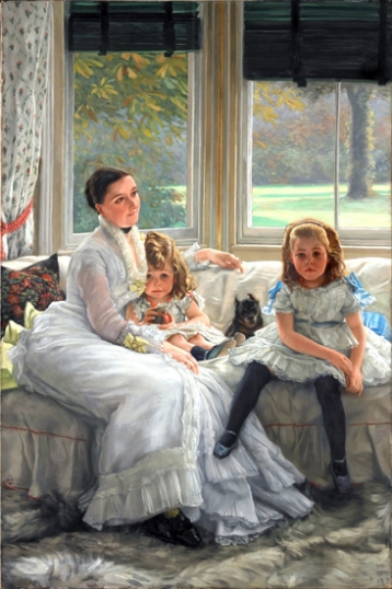 Mrs Catherine Smith Gill and Two of Her Children