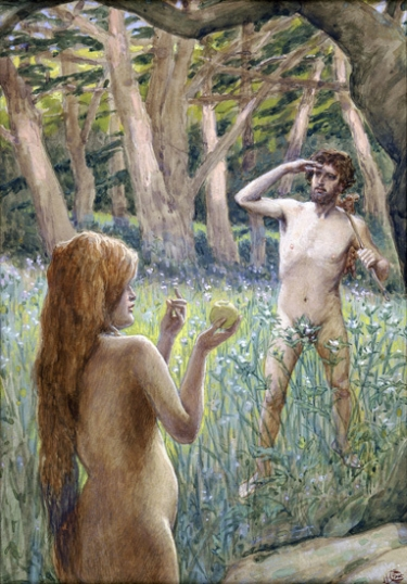 Adam Is Tempted by Eve