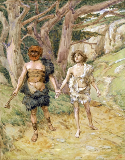 Cain Leads Abel to Death