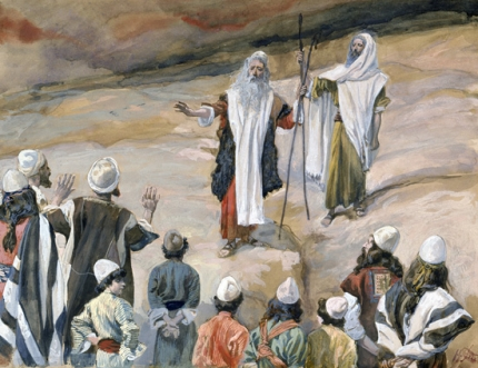 Moses forbids the People to Follow Him