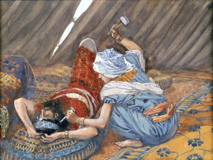 Jael Smote Sisera, and Slew Him