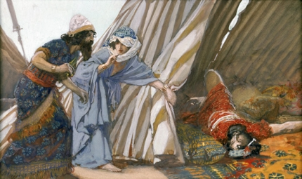 Jael Shows to Barak, Sisera Lying Dead
