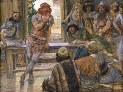 Samson Puts forth a Riddle