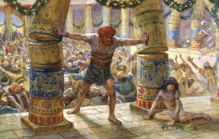 Samson Puts Down the Pillars