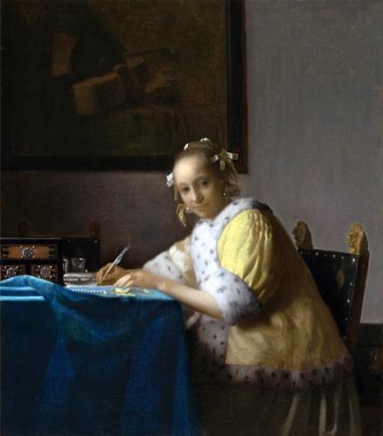 A Lady Writing 1665