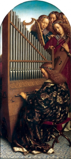 6. The Ghent Altarpiece Angel Musicians