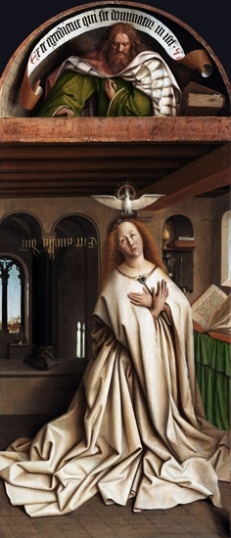 16. The Ghent Altarpiece closed Virgin Annunciate