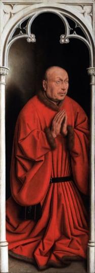 17. The Ghent Altarpiece closed Joos Vijd