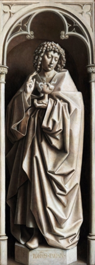19. The Ghent Altarpiece closed John the Evanglist