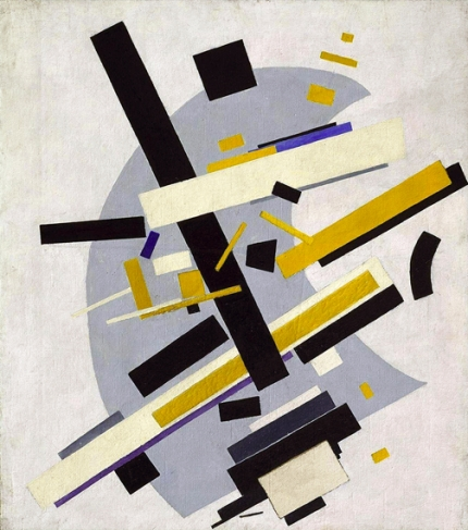 Suprematism. (Supremus 58. Yellow and Black) 1916