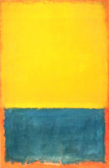 Yellow And Blue (Yellow, Blue On Orange), 1955
