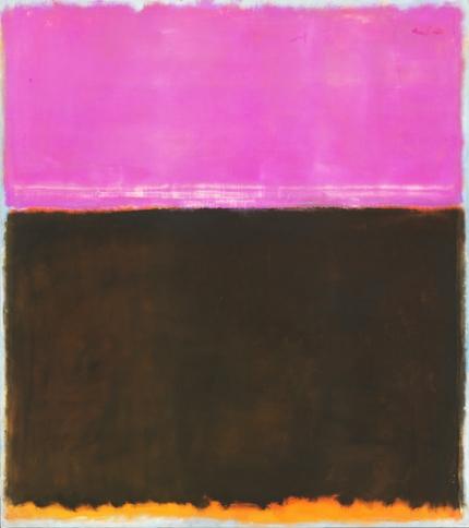 Untitled (Violet, Black, Orange On Gray) 1953
