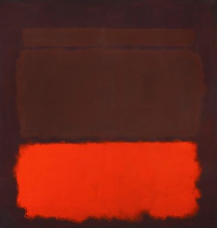 No. 6 Sienna, Orange On Wine, 1962