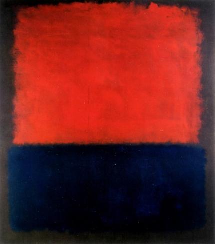 Red Over Dark Blue On Dark Gray