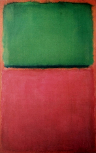 Untitled (Green, Red On Orange) - 1951