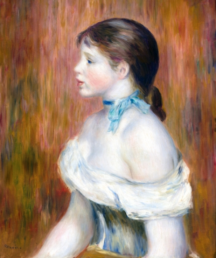 Girl with a Blue Ribbon 1888