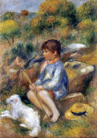 Young Boy by a Brook