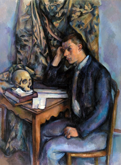 Young Man and Skull