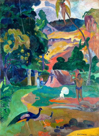 Matamoe (Death), Landscape with Peacocks