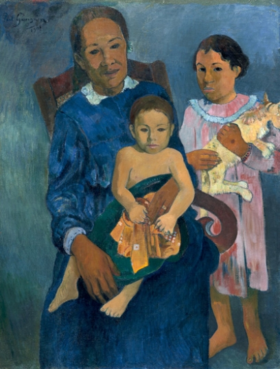 Polynesian Woman with Children